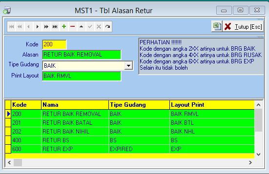 MST1 - Alasan Retur