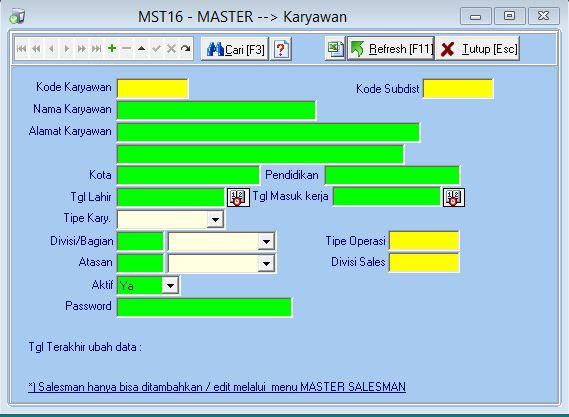 MST16 - Master Karyawan