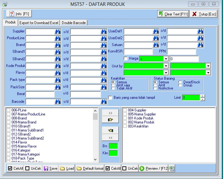MST57 - Daftar Product