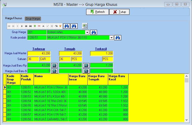 MST8 - Harga Khusus Grup Harga